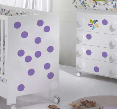 Polka dots kids decor klistremerke