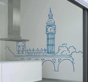 Vinil decorativo ilustração Big Ben, Londres