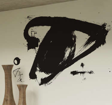 Decore as suas paredes de casa com este vinil parede  desenho abstrato. Adesivo de parede com Arte contemporânea. Vinis com proteção anti bolhas.