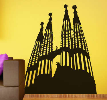 Vinilo decorativo silueta Sagrada Familia