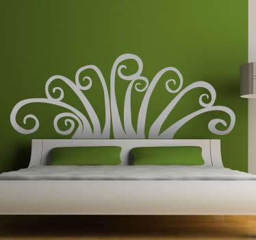 Adesivo decorativo abstracto cabeceira cama