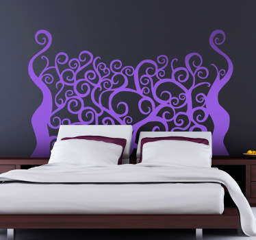 Spooky Forest Headboard Wall Decal
