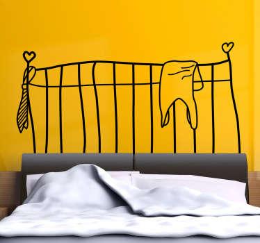 Autocolante decorativo cabeceira de cama