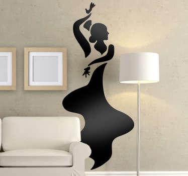 Sticker decorativo ballo flamenco