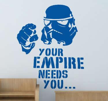 Star Wars Uncle Sam Text Sticker