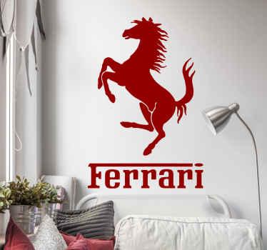 Naklejka na ścianę logo Ferrari