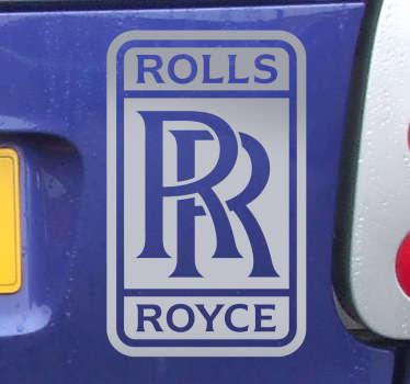Vinilo decorativo marca Rolls Royce