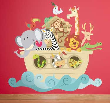 Wallstickers børneværelset noahs ark