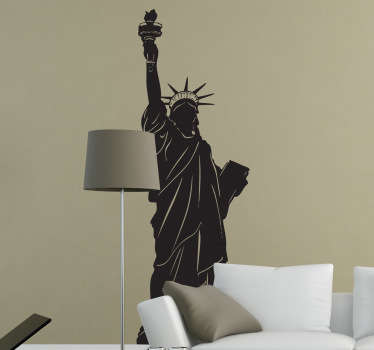 Decorate a wall in your home with this magnificent Statue of Liberty silhouette decal. Bring New York to your living room, bedroom or any other room in your home!