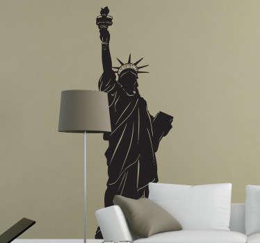 özgürlük new york çıkartması heykeli