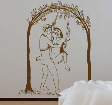 Autocollant mural sexe indien