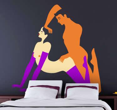 Adhesivo decorativo ilustración orgasmo