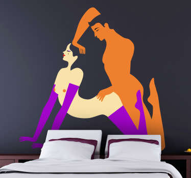 Orgasm Illustration Decorative Sticker