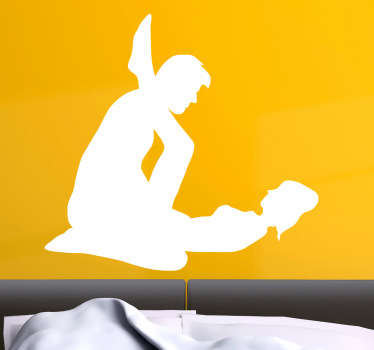 Sex in Bed Silhouette Sticker