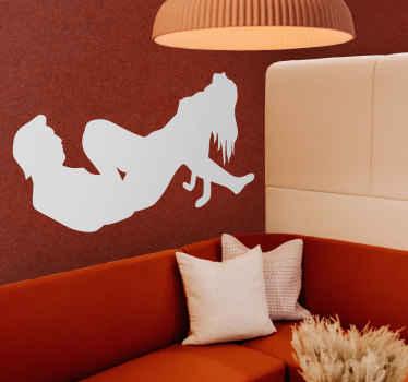 Naklejka dekoracyjna pozycja erotyczna
