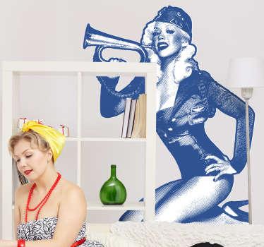 Naklejka dekoracyjna Pin-up Girl
