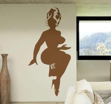 Sticker decorativo silhouette voluttuosa