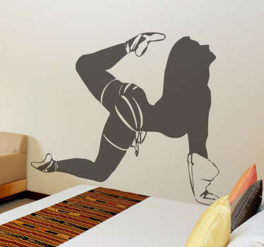 Naklejka dekoracyjna seksowna baletnica