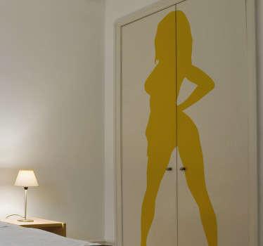 Naklejka na ścianę seksowana sylwetka