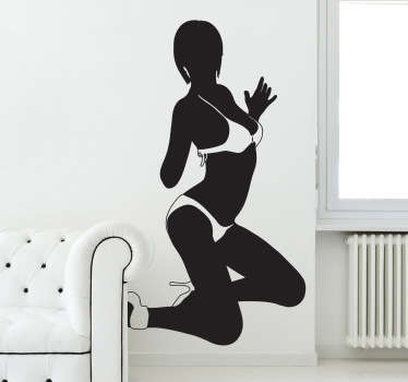 Girl in Bikini Silhouette Sticker