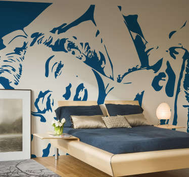 A great monochrome wall sticker illustrating the famous American actress Marilyn Monroe in a sexy position.