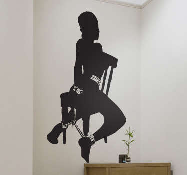 Sticker decorativo silhouette bondage