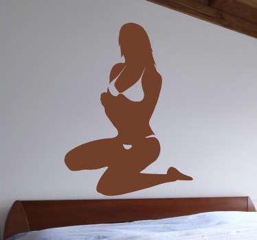 Naklejka Kobieta w bikini