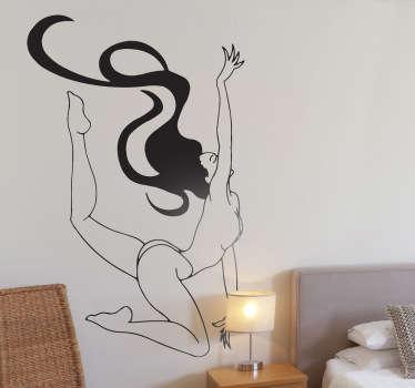 Vinilo decorativo acrobacia desnuda