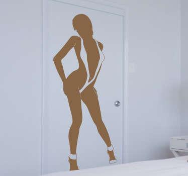 Autocollant mural femme trikini