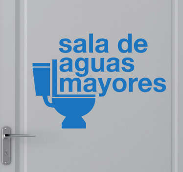 Adhesivo decorativo aguas mayores