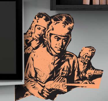Naklejka dekoracyjna żołnierze science fiction