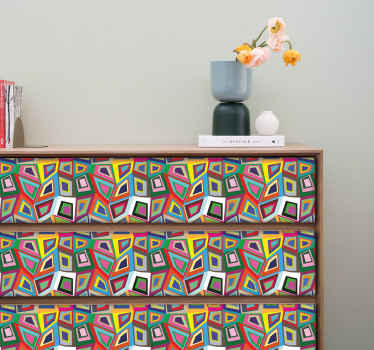 Retro Abstract Wall Sticker