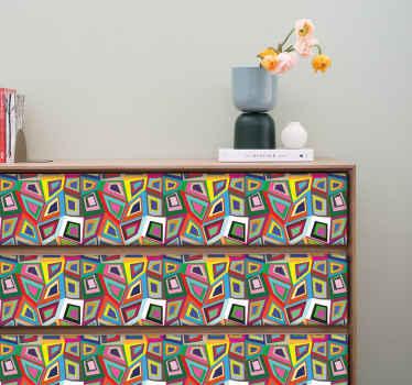 Retro Abstract Wall Sticker