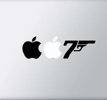James bond 007 apple piirustus tarra