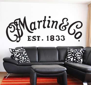 Sticker logo Martin guitare