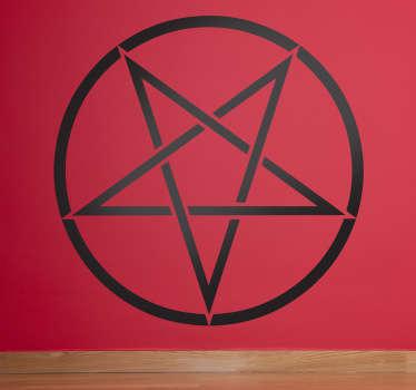 Muursticker Omgekeerd Pentagram