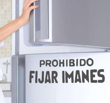 Naklejka Nie wolno umieszczać magnesów na lodówkę