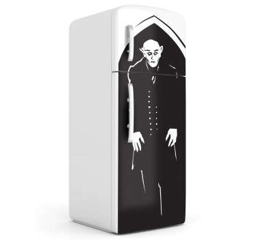 Celebrate one of the most influential movies of all time with this haunting Nosferatu fridge decal! Extremely long-lasting material.