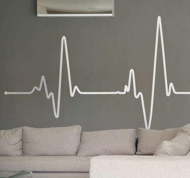 Elektrokardiyogram duvar çıkartması