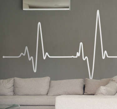 наклейка с электрокардиограммой