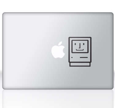 Old MacBook Laptop Sticker