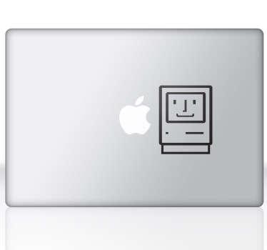První jablko mac oldschool business samolepka