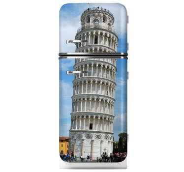 Toren van Pisa Koelkast Sticker