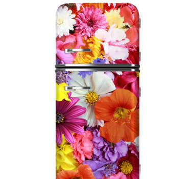 Fridge Stickers -  Customise your fridge with this floral design. A colourful and vibrant flower sticker that will brighten your kitchen and create a summer vibe.