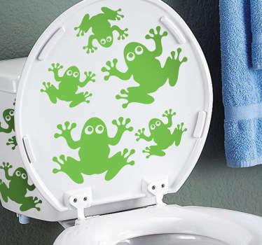 Sticker decorativo ranocchi nel bagno