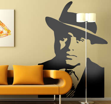 Al Capone Silhouette Sticker