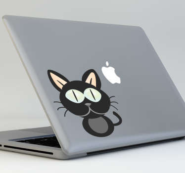 Personalizza il tuo dispositivo Mac con questo sticker decorativo.Un simpatico gattino da affiancare al logo Mac.