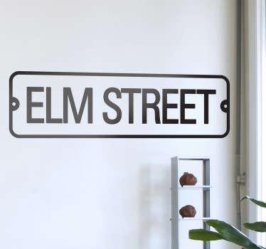 Elm Street Wall Sticker