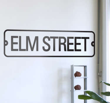 Sticker film Elm Street