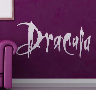A brilliant text wall sticker of the famous movie directed by Francis Ford Coppola, Dracula.